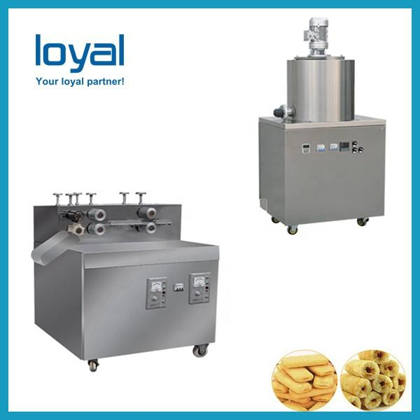 Twin Screw Extruder Puffed Corn Snack Making Machinery Flower Type Low Noise #1 image