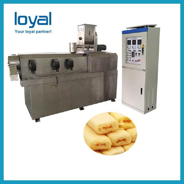 Twin Screw Extruder Puffed Corn Snack Making Machinery Flower Type Low Noise #2 image