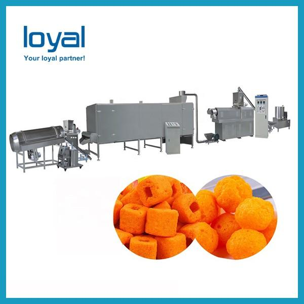 Twin Screw Extruder Puffed Corn Snack Making Machinery Flower Type Low Noise #3 image
