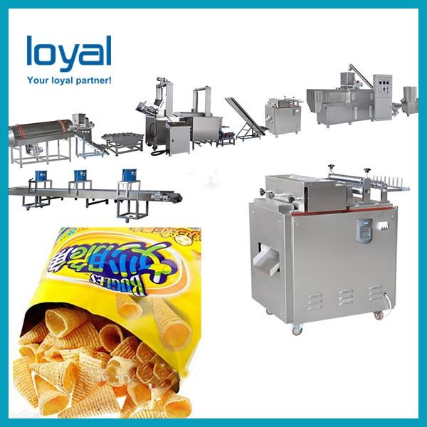 High Quality and Industrial Fried Wheat Flour Bugles Snacks Corn Chips Processing Line for Sale #2 image